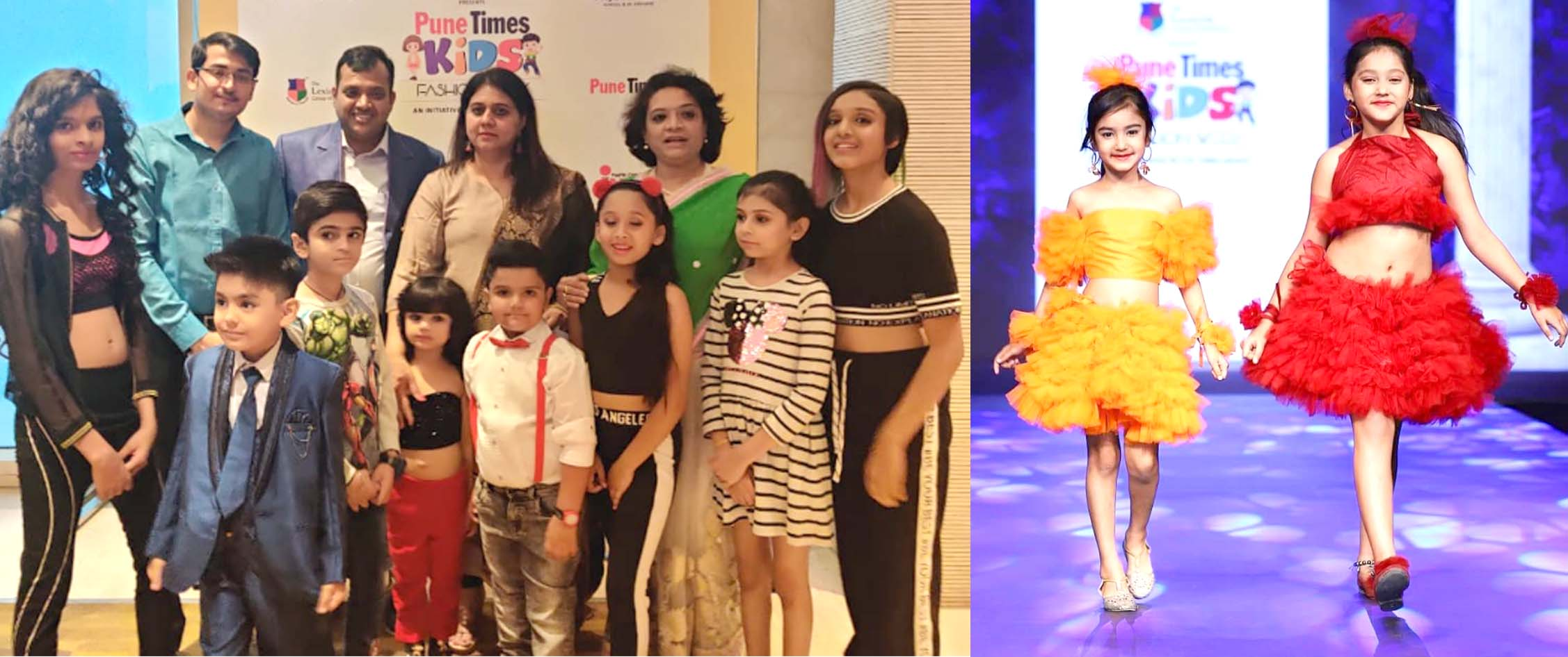 CHASA IDT fashion students showcased their collection and kids models walked the ramp at Kids Fashion Week, Pune